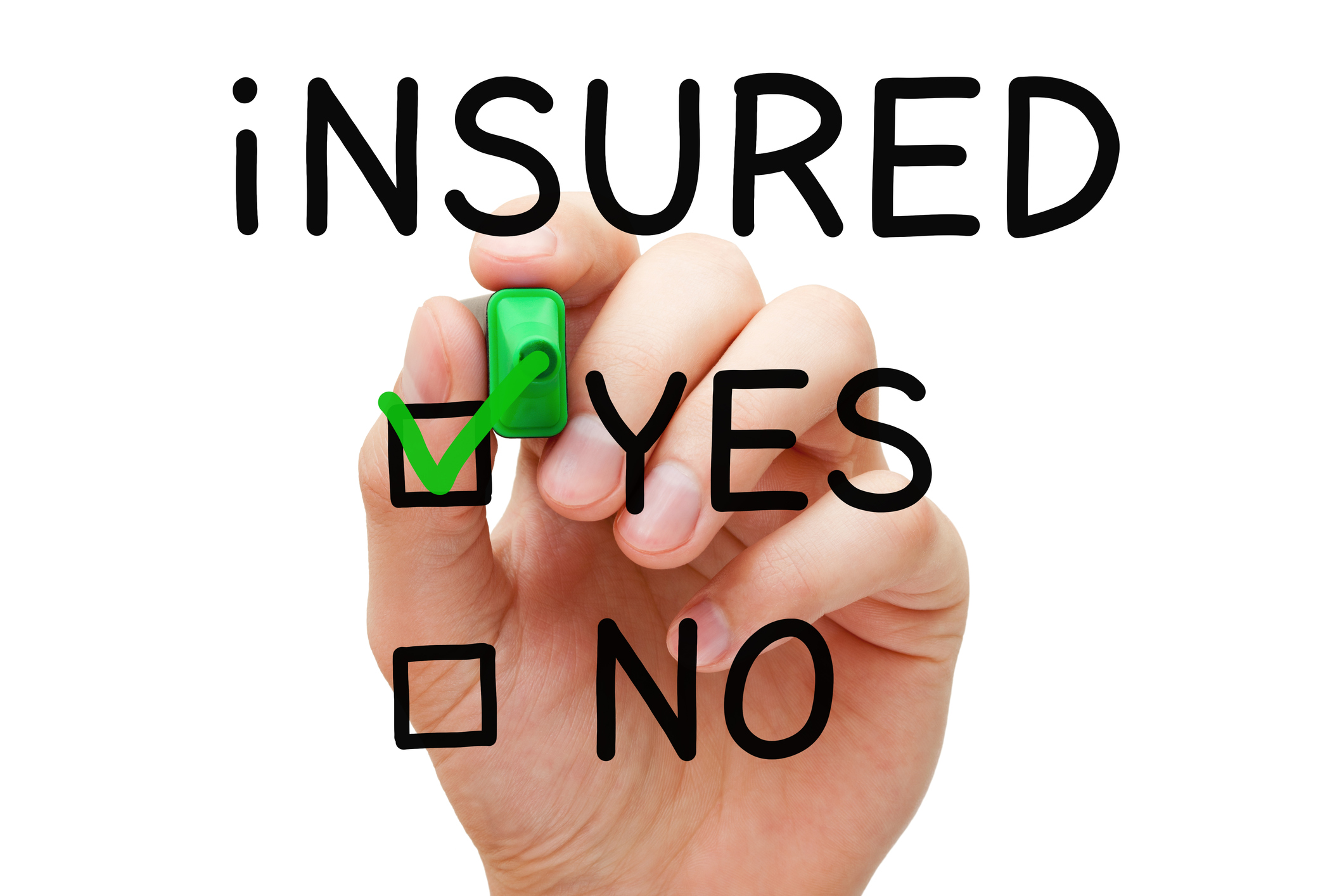 image of clear board insured yes or no question