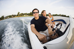 image of people boating